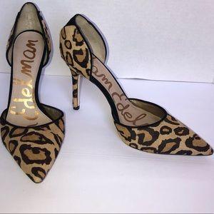Sam Edelman Leopard print heels size 8